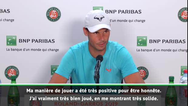 """Basket : Roland-Garros - Nadal - """"J'ai été trè solide, je sens bien la balle"""""""