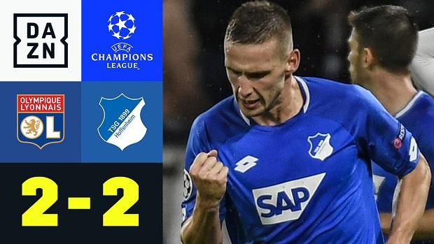 UEFA Champions League: Olympique Lyon - TSG Hoffenheim   DAZN Highlights