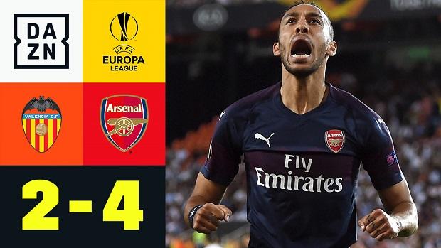 UEFA Europa League: Valencia - Arsenal | DAZN Highlights