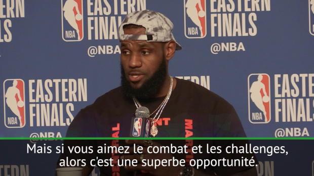 """Basket : Conf.Est - Match 7 - LeBron - """"Il va falloir aller au combat"""""""