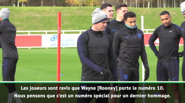 Angleterre - Southgate - 'Rooney portera bien le numéro 10'