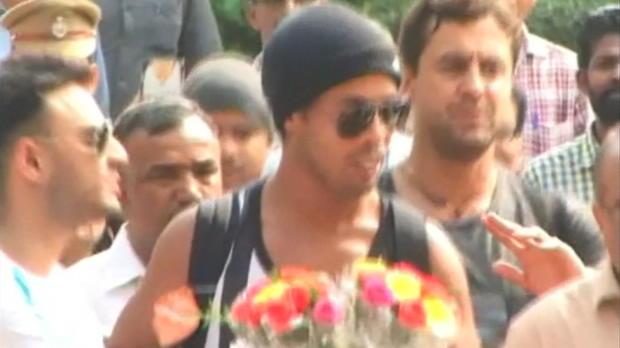 Indien: Ronaldinho entgeht Unfall