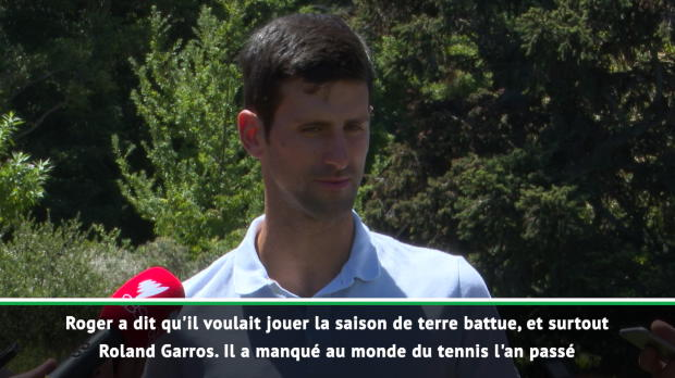 : Roland-Garros - Djokovic - 'Ravi de revoir Federer sur terre battue'