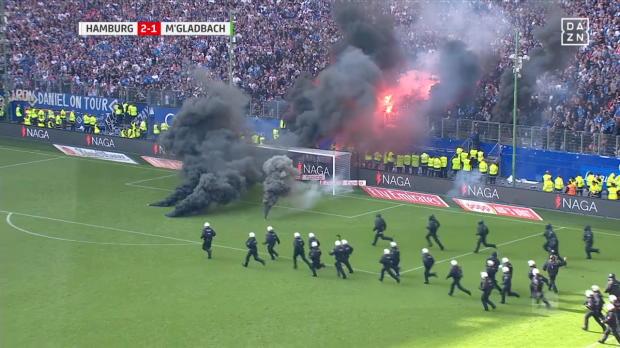 Fanchaos bei HSV-Abstieg