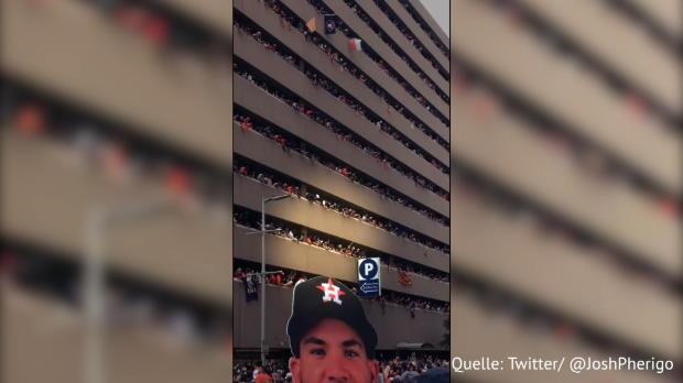 MLB: Fans bringen Hut zurück - über 6 Etagen!