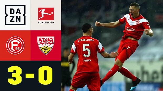 Bundesliga: Fortuna Düsseldorf - VfB Stuttgart | DAZN Highlights