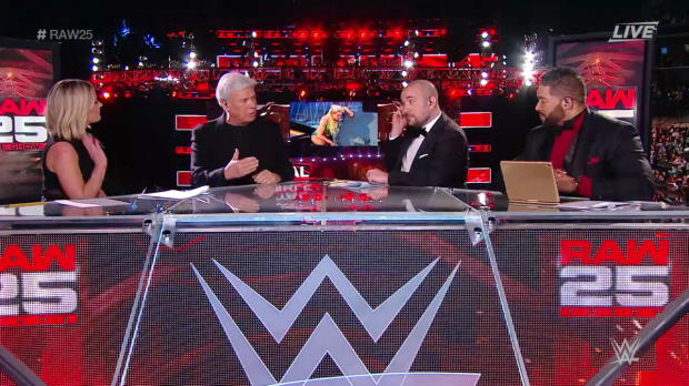 Eric Bischoff discusses his first phone call with Mr. McMahon: Raw 25th Anniversary Pre-Show