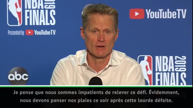"""Basket : NBA - Kerr - """"Panser nos plaies et relever ce défi"""""""