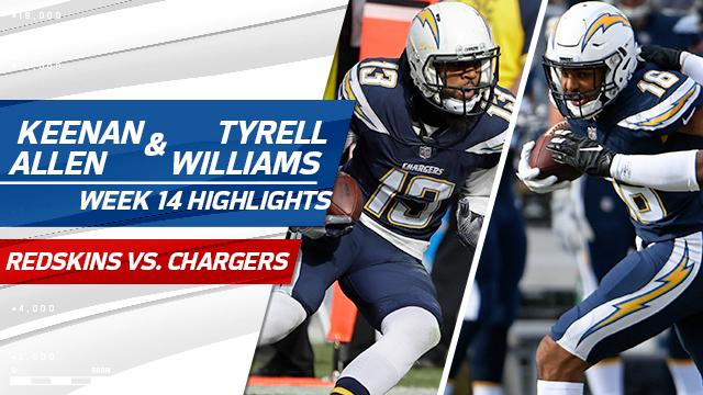 Keenan Allen and Tyrell Williams highlights | Week 14