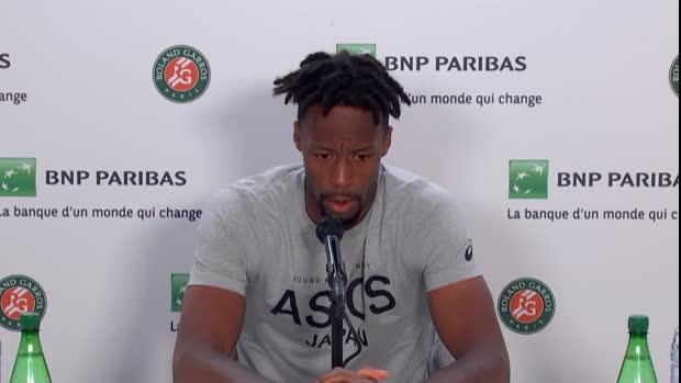 """Basket : Roland-Garros - Monfils - """"Pas un bon début de match"""""""