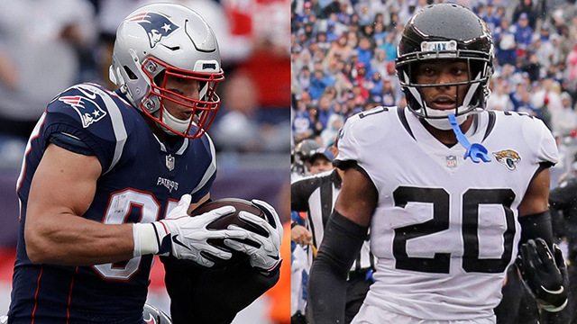 Video  Mike Giardi  New England Patriots tight end Rob Gronkowski could get  inspired by Jacksonville Jaguars cornerback Jalen Ramsey s trash talk 68ffff097