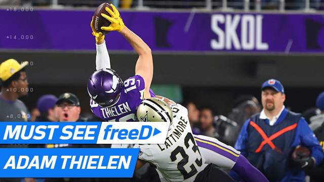 freeD: Adam Thielen beats Marshon Lattimore, calls for the ball from Case Keenum | NFC Divisional Round