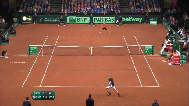 Copa Davis - B�lgica y Reino Unido empatan tras el primer d�a