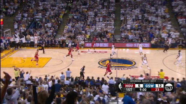WSC: Golden State Warriors with 16 3-pointers against the Rockets