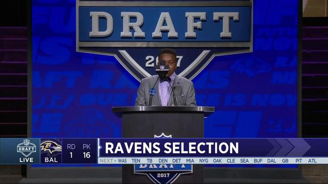 Ravens select Marlon Humphrey No. 16 in the 2017 NFL Draft