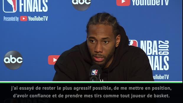 """Basket : NBA - Leonard - """"Ce n'est pas encore terminé"""""""