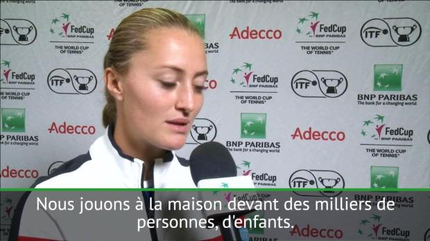 L1 : Fed Cup - Mladenovic - 'J'essaye d'être un exemple pour mon pays'