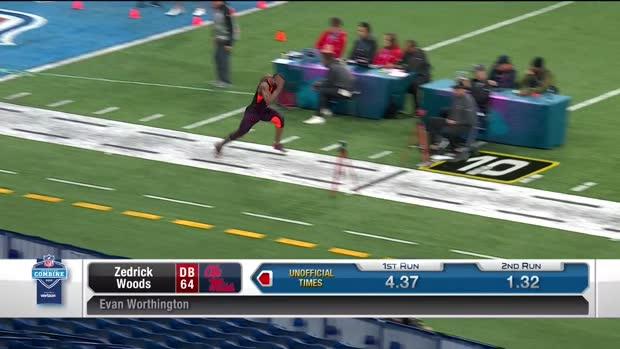 b798b9dcb86 Video: Ole Miss defensive back Zedrick Woods runs an official 4.29 40 ...