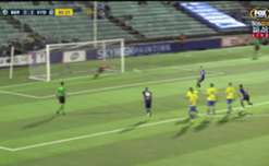 New recruit Adrian Mierzejewski scores on his competitive debut to make it 3-0 to Sydney FC.
