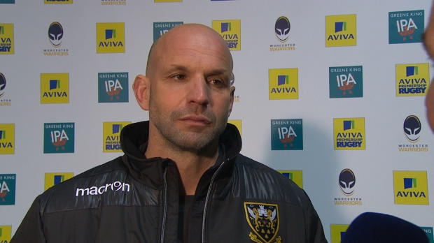Aviva Premiership - Northampton Saints Director of Rugby Jim Mallinder gives his thoughts on his sides one-point victory over the Worcester Warriors at Sixways.