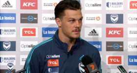 Melbourne Victory defender James Donachie spoke to reporters at AAMI Park on Wednesday.
