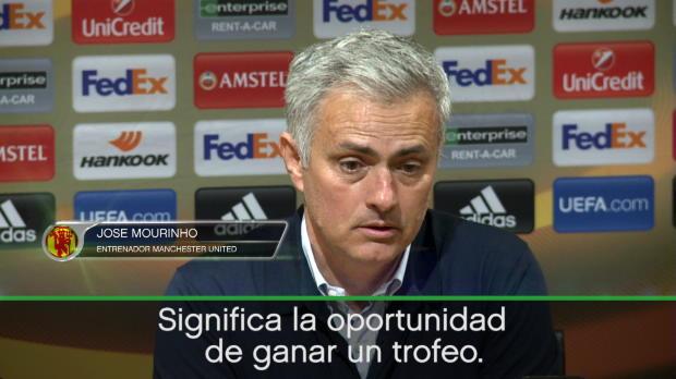 """Mourinho sobre la final: """"Significa la oportunidad de regresar a la Champions"""""""