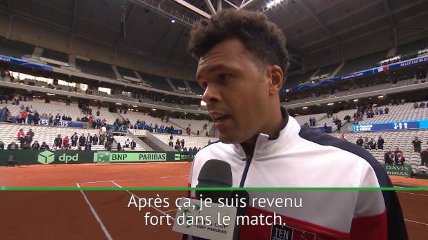 "Tennis : Coupe Davis - Tsonga - ""Je ne savais pas à quoi m'attendre"""