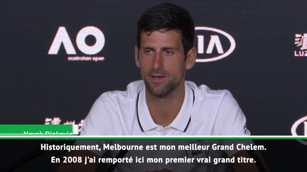 """Tennis : Open d'Australie - Djokovic - """"Mon premier titre m'a ouvert beaucoup de portes"""""""