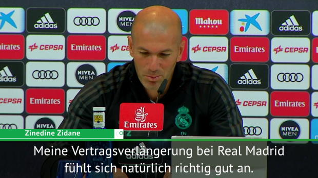 Zidane hoch erfreut über Vertragsverlängerung