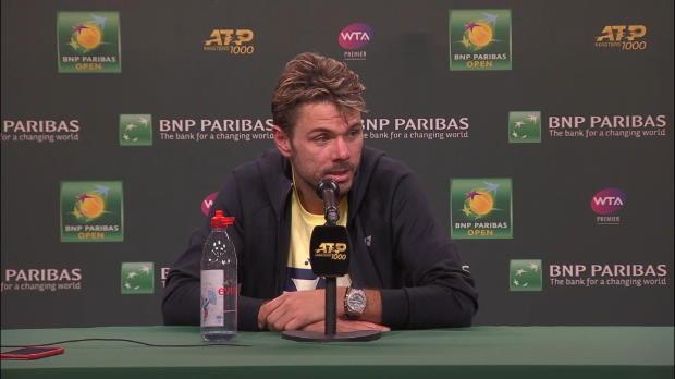 : Indian Wells - Wawrinka - 'Federer au 3e tour ? Un bon test'