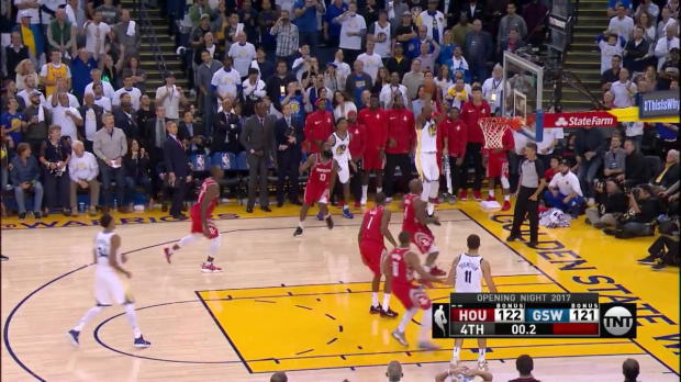 Last possession in Rockets-Warriors