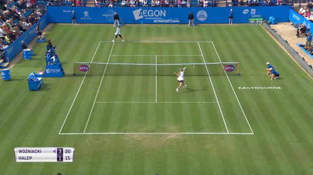 Basket : Eastbourne - Wozniacki plus forte que Halep