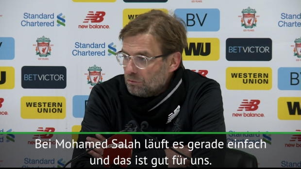 "Klopp lobt: Salah ""auf fantastischem Weg"""
