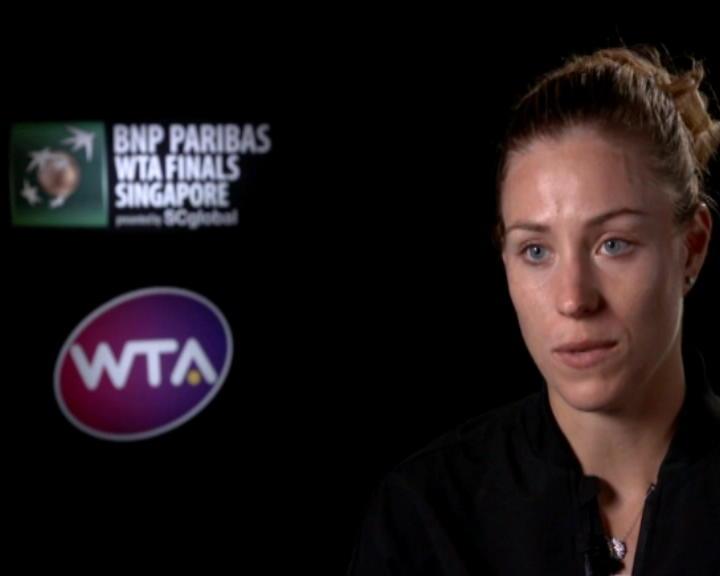 تنس:  البطولة الختامية: كيربر سعيدة بفوزها على سيبولكوفا