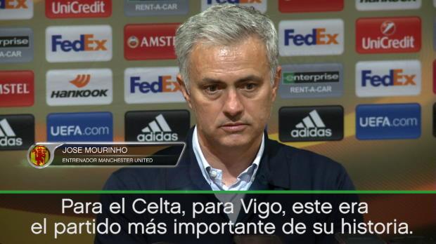 """Mourinho: """"Para el Celta era el partido más importante de su historia. Jugaron mejor"""""""