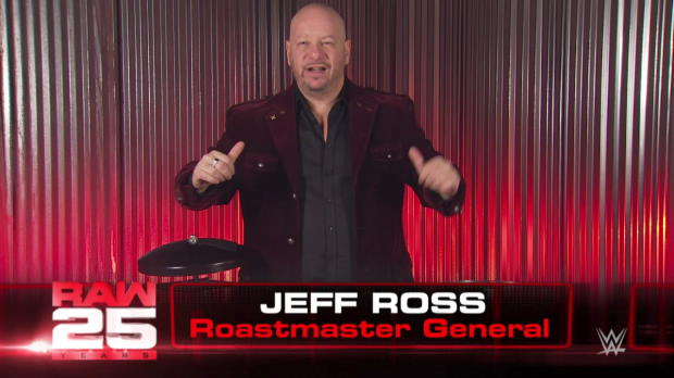 Comedian Jeff Ross roasts WWE Superstars for Raw 25