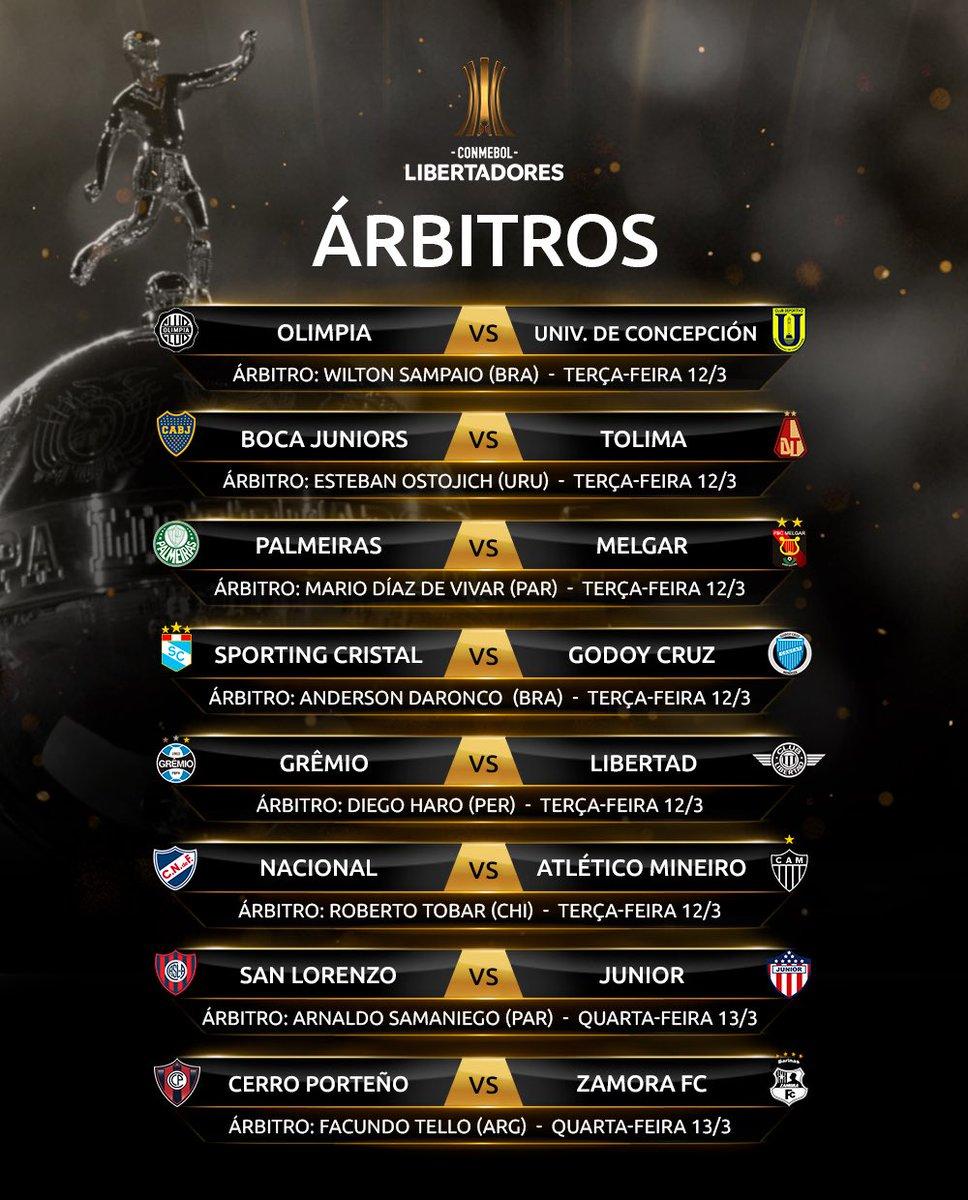 Árbitros - Libertadores 1