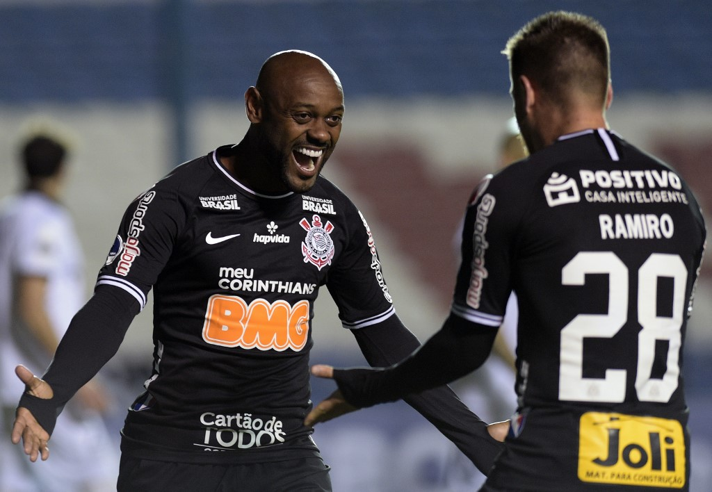 AFP Corinthians Vagner Love Copa Sul-Americana