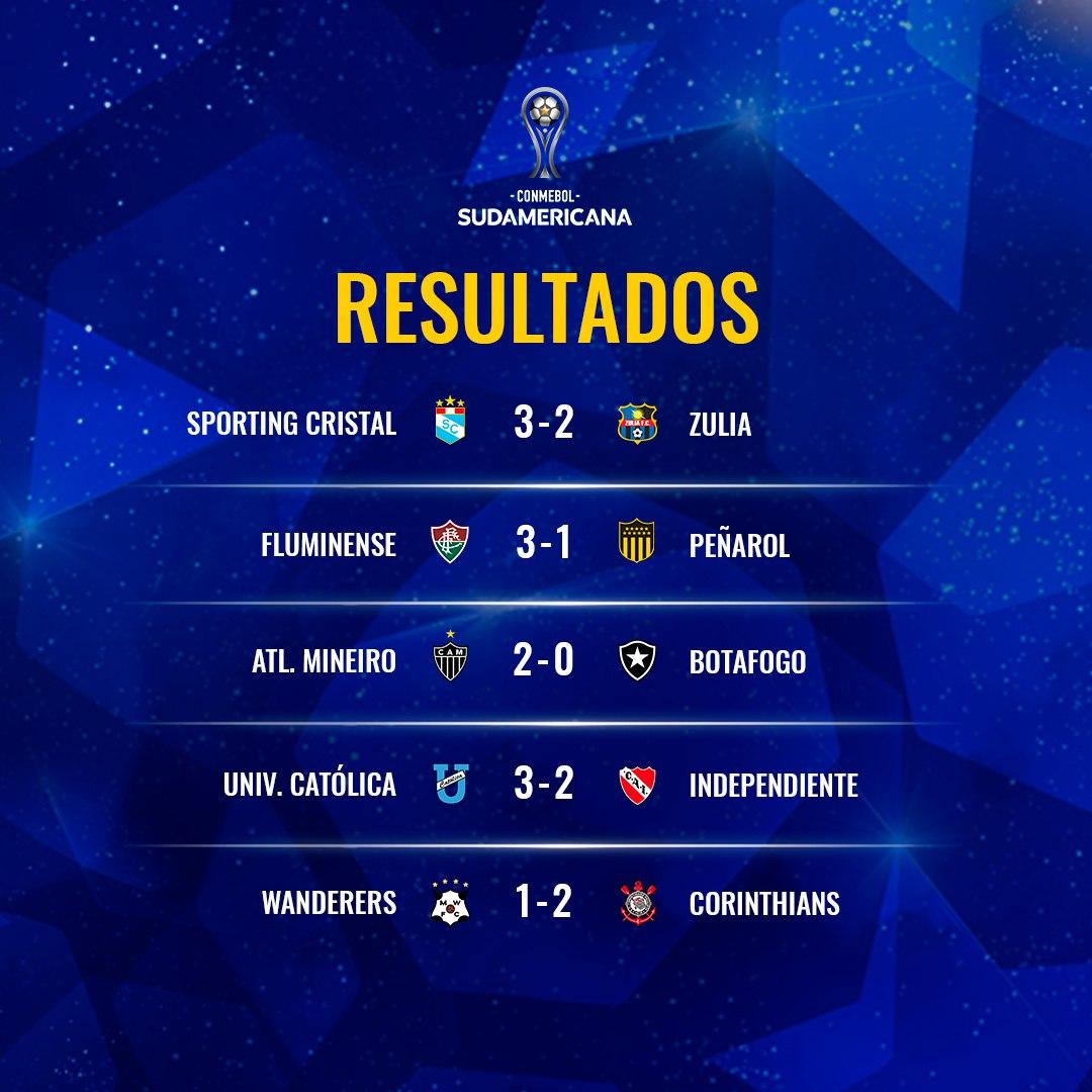 resultados oitavas volta Sul-Americana