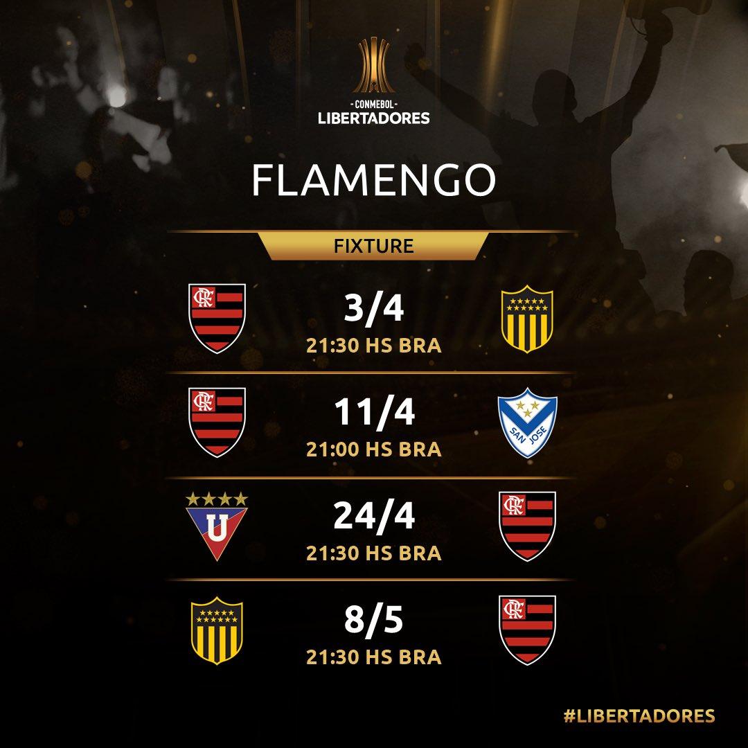 Jogos do Flamengo - Libertadores