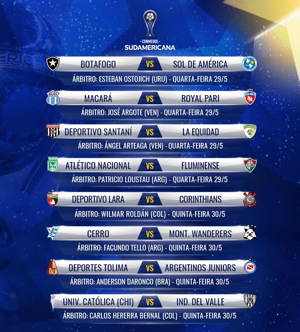 Arbitros 2 Fase 2 Volta Copa Sul-Americana