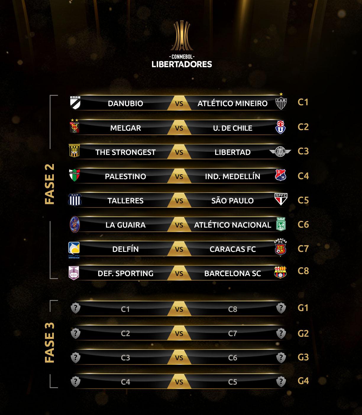 Fase 2 y Fase 3 Copa Libertadores