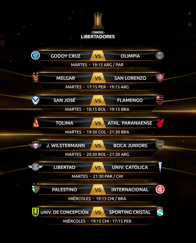 Fixture fecha 1 Fase de Grupos