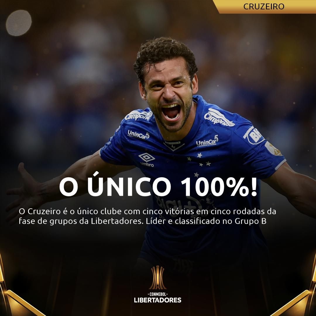 Cruzeiro 100% na Libertadores