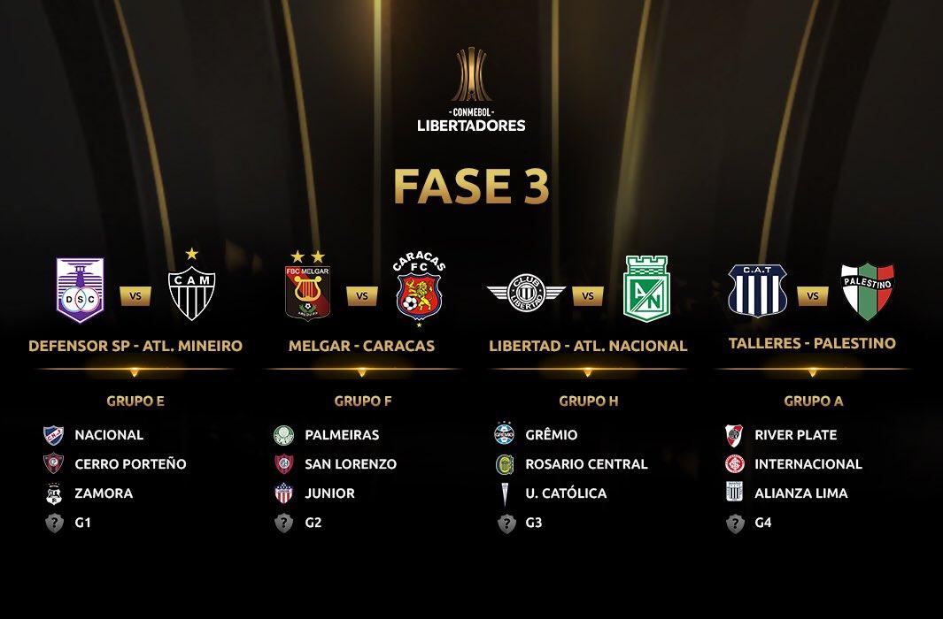 Fase 3 - Libertadores