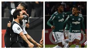 AFP Collage Colo Colo Palmeiras