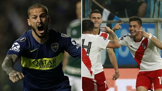 Bendetto Pity Martínez River-Boca AFP