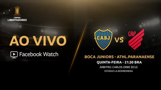 Boca x Athletico - Facebook