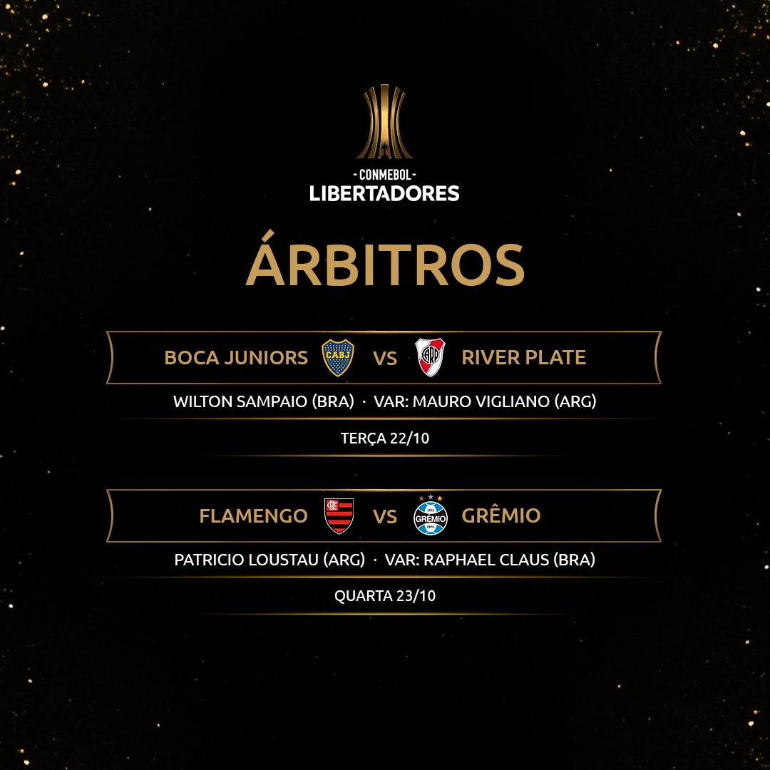 Árbitros volta das semifinais Libertadores