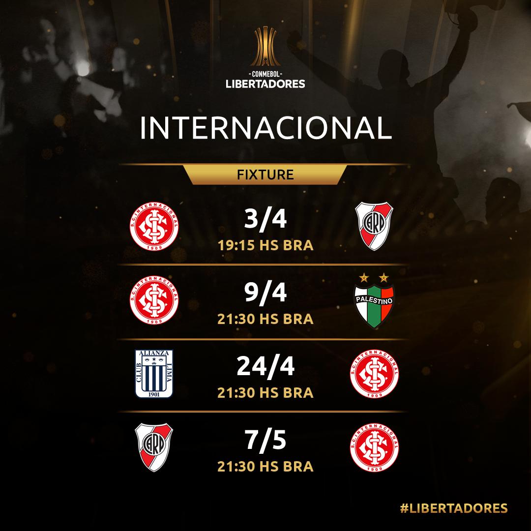 Internacional jogos Libertadores